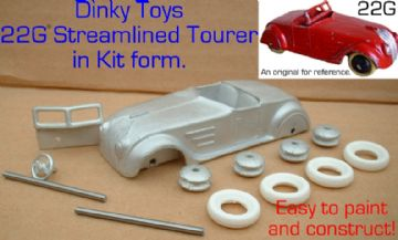 Dinky Toys copy model 22G Sreamlined Tourer in kit form